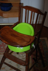 Our highchair with the Bebe pod.